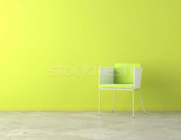 green interior copy space Stock photo © arquiplay77