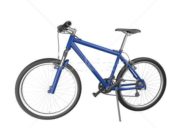 синий горных велосипедов изолированный белый изображение Сток-фото © arquiplay77