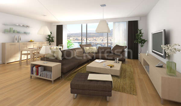 modern interior design of apartment Stock photo © arquiplay77