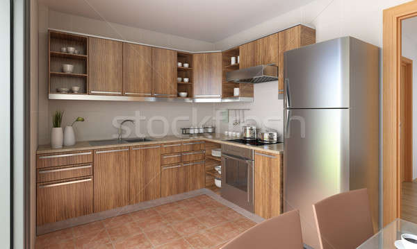 modern kitchen design  Stock photo © arquiplay77