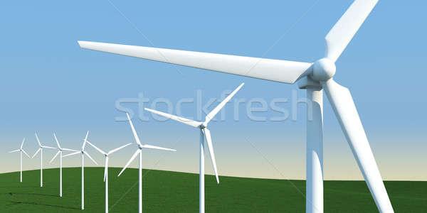 электрических луговой Чистая энергия природы пейзаж Сток-фото © arquiplay77