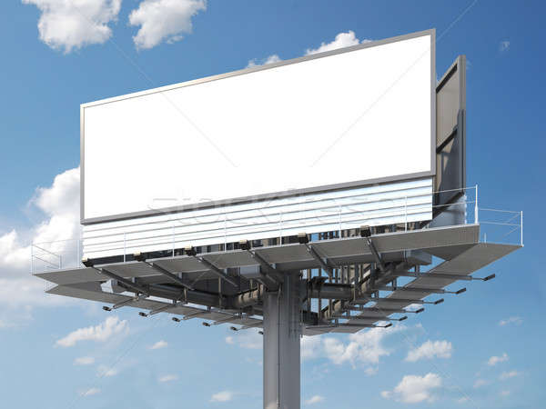Billboard grand vide prêt image texte Photo stock © arquiplay77