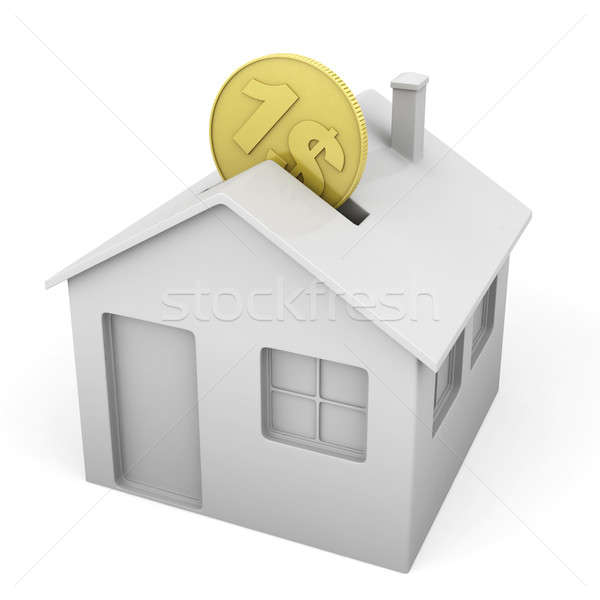 house shaped money box Stock photo © arquiplay77