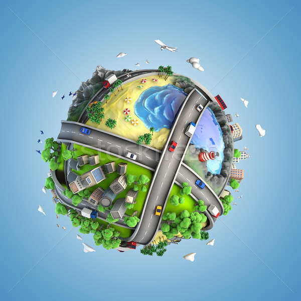 globe concept of the world and life styles Stock photo © arquiplay77