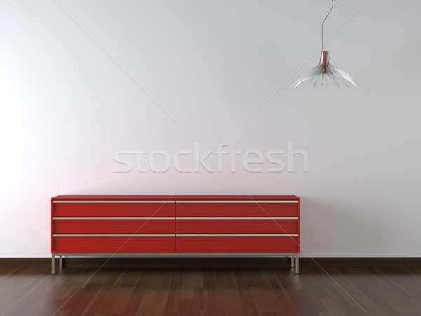 interior design red furniture on wite wall Stock photo © arquiplay77
