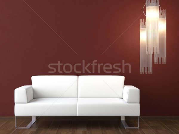 интерьер белый диване стены современных Сток-фото © arquiplay77