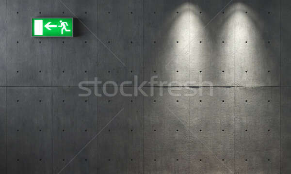 Foto stock: Grunge · concretas · textura · pared · dos · emergencia