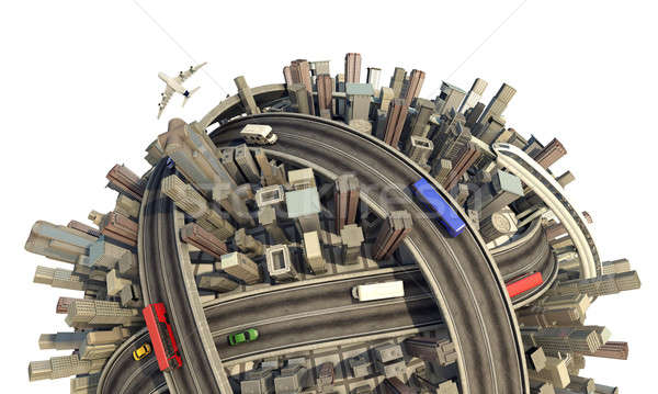 miniature urban planet concept close-up Stock photo © arquiplay77
