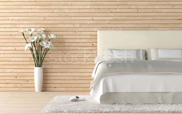 wooden bedroom with calla lilly Stock photo © arquiplay77