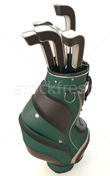 golf equipment isolated on white-2 Stock photo © arquiplay77