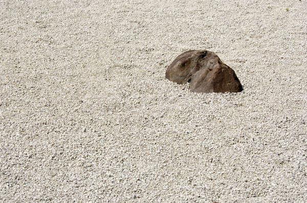 Kamień ogród zen buddyzm Japonia żwir Zdjęcia stock © Arrxxx
