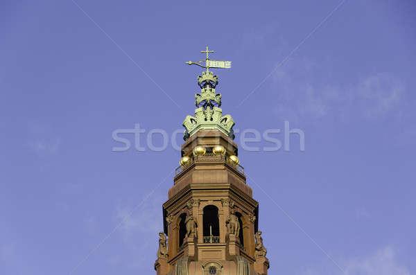 Kule kale parlamento Bina Danimarka mavi Stok fotoğraf © Arrxxx