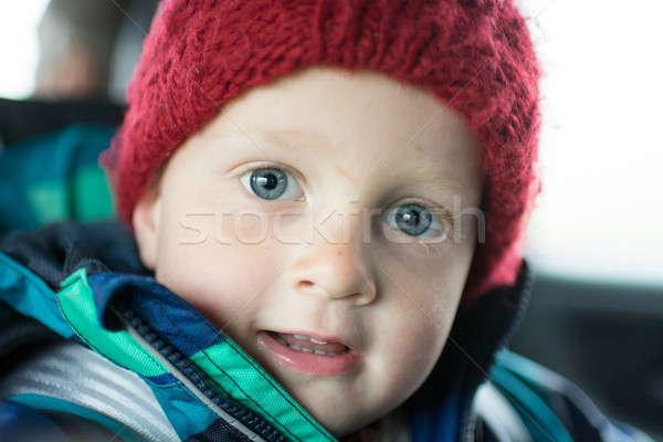 Portret jaar oude jongen winter naar Stockfoto © Arrxxx