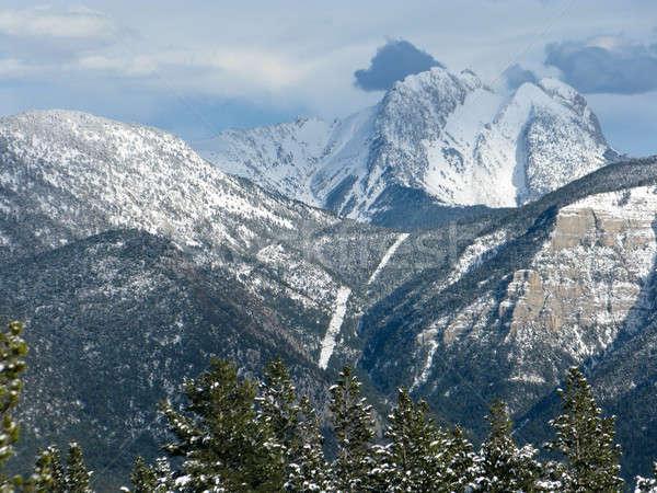 Sneeuw berg bergen Spanje la boom Stockfoto © Arrxxx