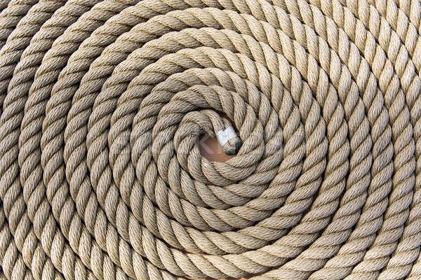 Rollen schip touw patroon ruw sterke Stockfoto © Arrxxx