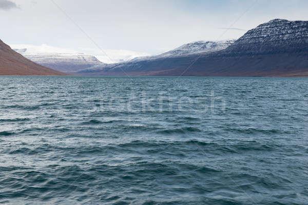 Арктика пейзаж вокруг облака морем снега Сток-фото © Arrxxx