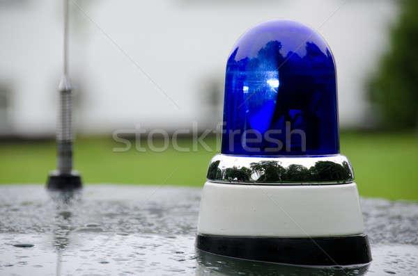 Azul emergência veículo iluminação polícia luz Foto stock © Arrxxx