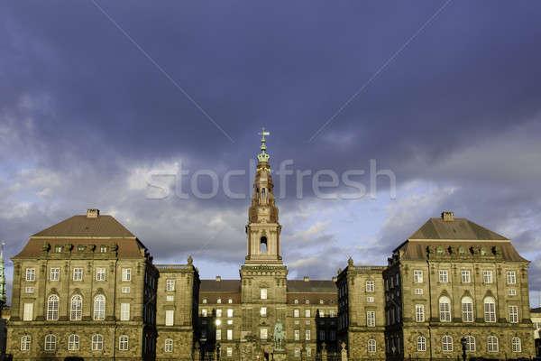 Palota Koppenhága Dánia központ ülés épület Stock fotó © Arrxxx