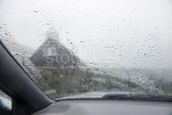 Auto venster zwaar regen regenachtig Stockfoto © Arrxxx