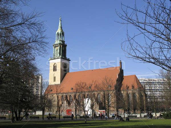 教会 ベルリン ドイツ 建物 クロック 冬 ストックフォト © Arrxxx