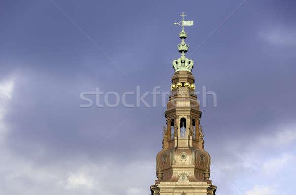 Torre castello parlamento costruzione Danimarca blu Foto d'archivio © Arrxxx