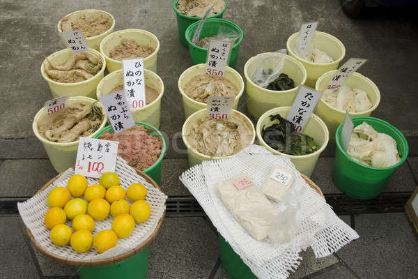 Pickled vegetables on a marked in Japan Stock photo © Arrxxx