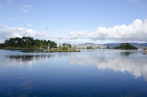 Paisagem em torno de Noruega água lago Foto stock © Arrxxx