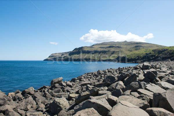 Landschaft Inseln charakteristisch nördlich Küste Wasser Stock foto © Arrxxx