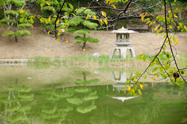Lake in a japanese garden Stock photo © Arrxxx