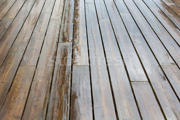 Wet wooden planks Stock photo © Arrxxx