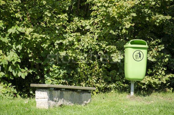 Groene afval park bank straat Stockfoto © Arrxxx
