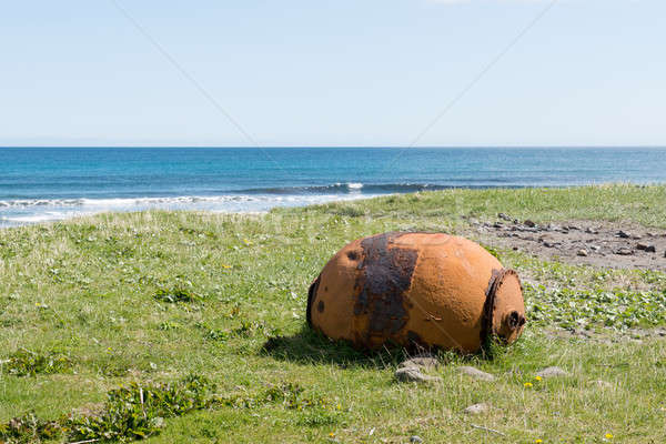 Old rusty sea mine on the Faroe Islands Stock photo © Arrxxx