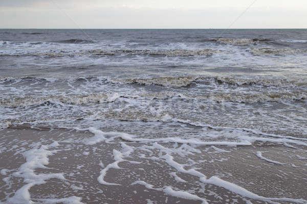 Mar báltico inverno ventoso dia água nuvens Foto stock © Arrxxx