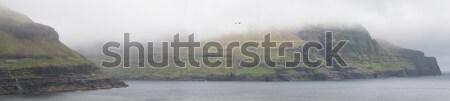 Panorama água grama paisagem montanha verde Foto stock © Arrxxx