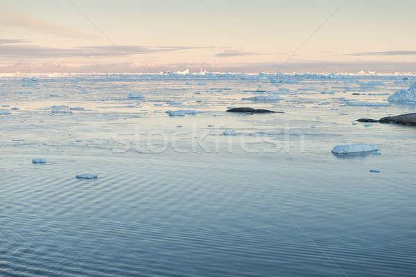 Arktik manzara etrafında dağlar su doğa Stok fotoğraf © Arrxxx