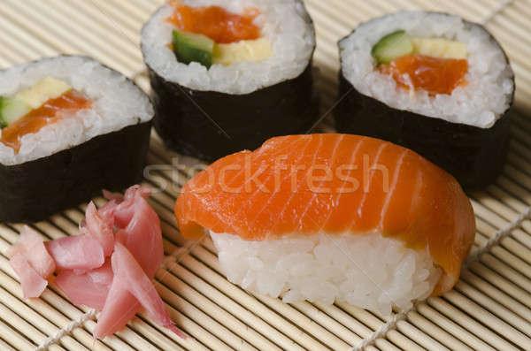 Japans sushi keuken ingesteld zalm Stockfoto © Arrxxx
