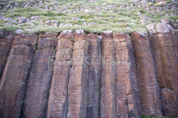 Basalt Spalten Inseln groß rot Natur Stock foto © Arrxxx