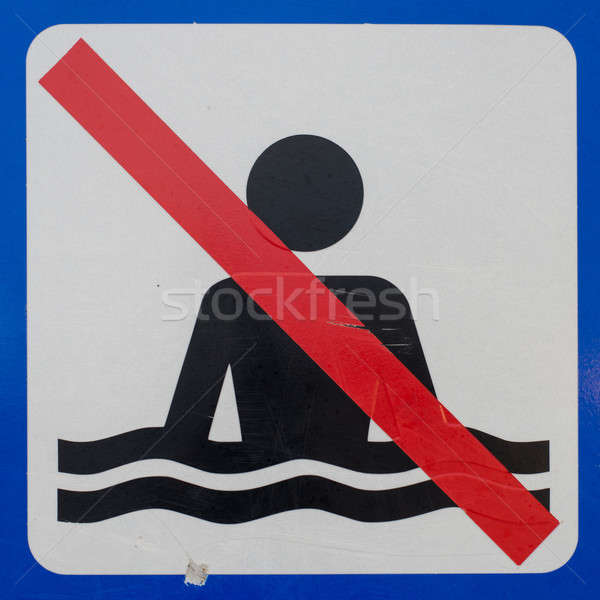 No bathing sign Stock photo © Arrxxx