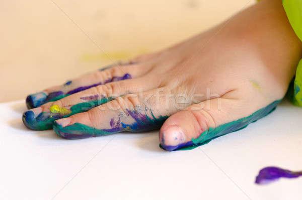 子 絵画 手 注文 印刷 ストックフォト © Arrxxx