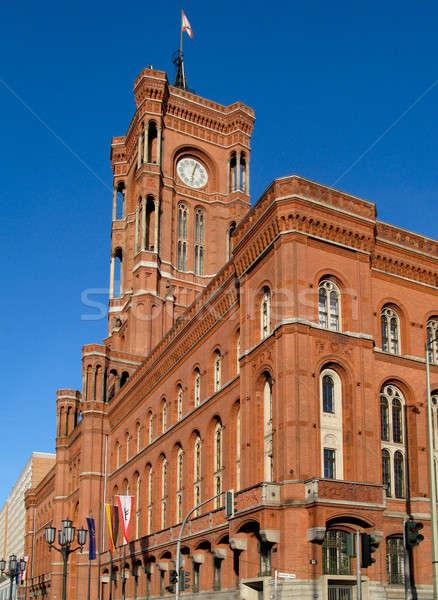 赤 町役場 ベルリン 画像 フロント 右 ストックフォト © Arrxxx
