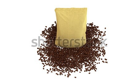 Coffee Package on beans Stock photo © Arsgera