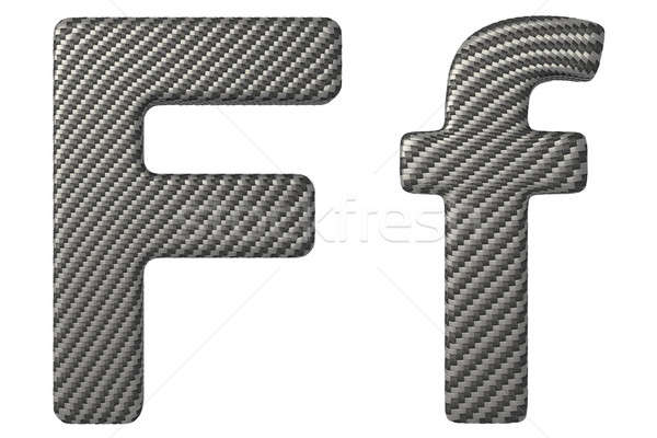 Carbon fiber font F lowercase and capital letters Stock photo © Arsgera