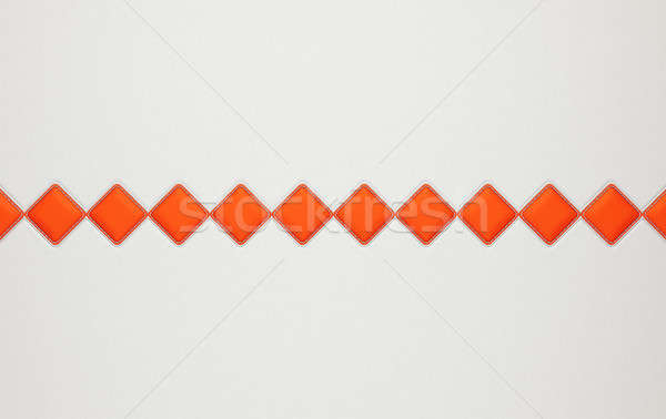 Grey horizontal stitched leather background with rhombs Stock photo © Arsgera