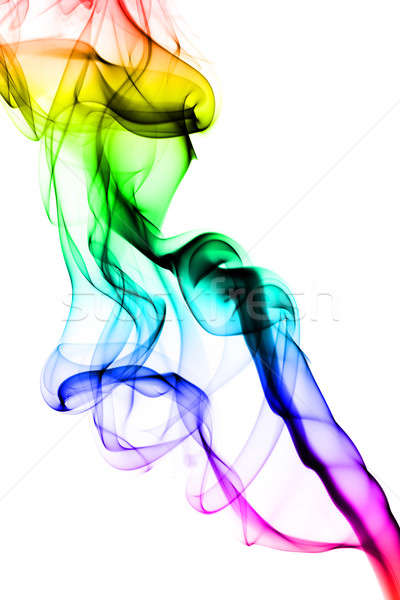 Abstract puff of colorful smoke on white Stock photo © Arsgera