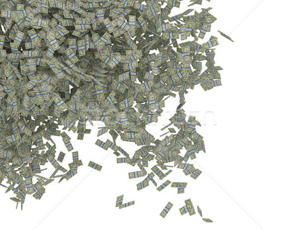 Money scattering. US dollar bundles falling Stock photo © Arsgera