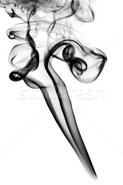 Fumar abstração forma branco abstrato luz Foto stock © Arsgera