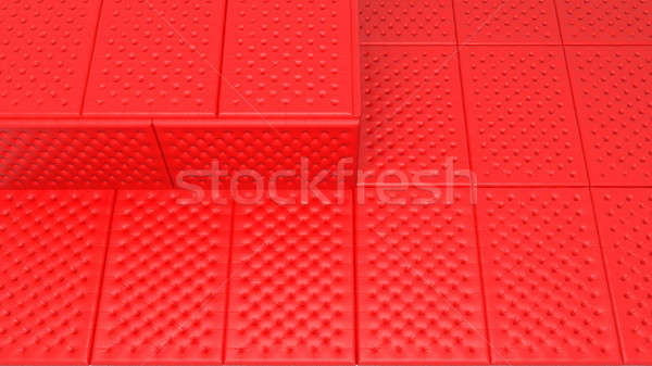 Soft and safe space concept - red mattresses Stock photo © Arsgera