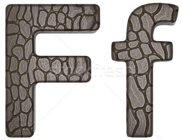 Alligator skin font F lowercase and capital letters Stock photo © Arsgera
