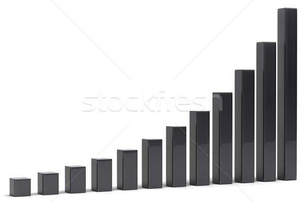 Statistics: black diagram or charts on white Stock photo © Arsgera