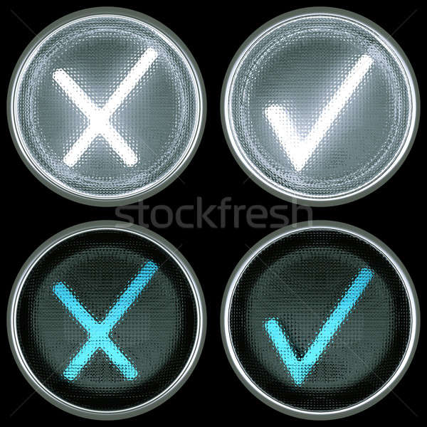Collections of switch controls or buttons: accept and cancel Stock photo © Arsgera